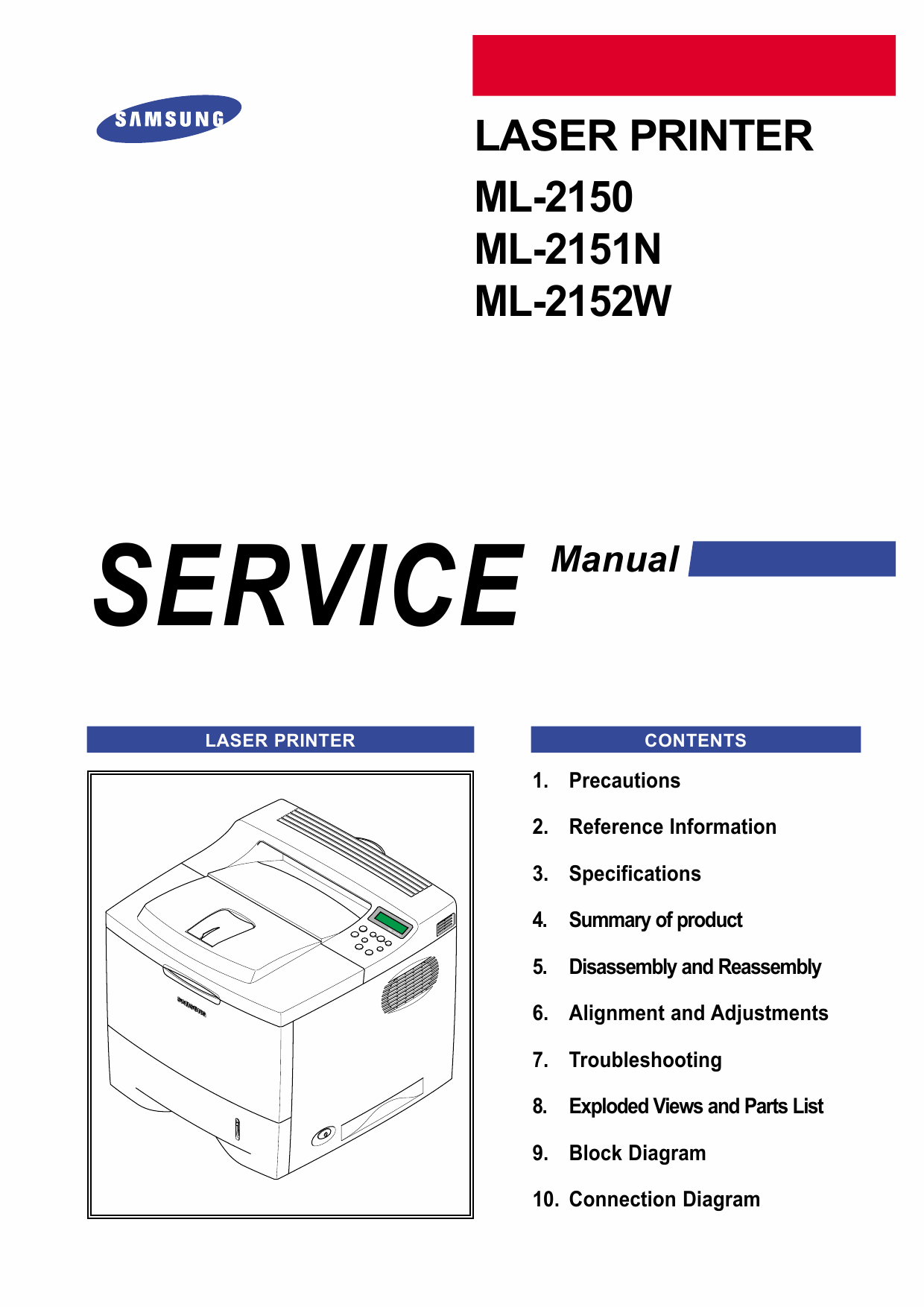 Samsung Laser-Printer ML-2150 2151N 2152W Parts and Service Manual-1